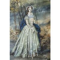 costume design for beverly sills as maria stuarda in donizetti's maria stuarda, new york city opera by jose varona