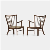 lounge chairs (model 1628) (pair) by soren hansen