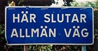 här slutar allmän väg iii by dan wolgers