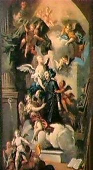 modello per pala d'altare con santi e angeli by mauro (picinardi) piccinardi