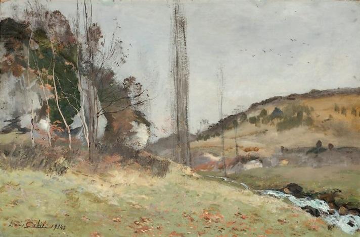 paysage champêtre by louis alexandre cabié