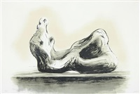 stone reclining figure ii by henry moore