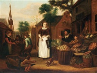 market scene by jan victors