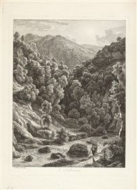 5 bll. der folge: malerisch radirte prospecte aus italien (5 works) by johann christian reinhart