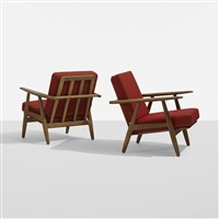 lounge chairs model ge240 (pair) by hans j. wegner