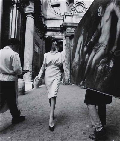 rome, vogue, painting + coffee by william klein