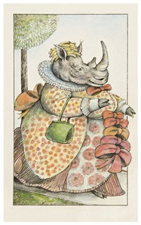 madame rhinoceros and her dress (from fables) by arnold lobel