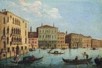 vista sul canal grande a venezia: blick auf den canal grande in venedig by francesco albotti