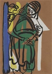 femme à l'enfant by bedri rahmi eyuboglu