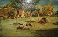 rustende koeien by alfred jacques verwee