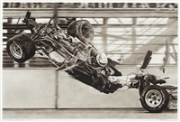 study for race car crash by robert longo