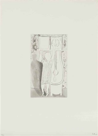 woman and clock from autobiographical series by louise bourgeois