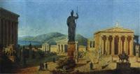 a cappriccio view of the acropolis, athens by eduard karl biermann