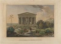 vue du temple de la concorde à agrigente (after carl ludwig frommel from voyage pittoresque en sicilie) by franz hegi