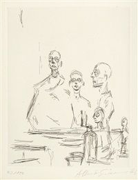 köpfe im atelier by alberto giacometti