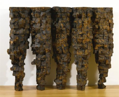 five cones in 5 parts by ursula von rydingsvard