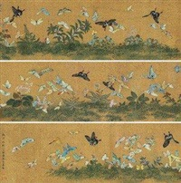 百蝶图卷 (butterflies) by ma shouzhen