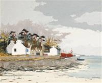 crevettier à marée basse by jacques wolmans