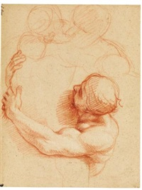 study for a male figure by charles le brun