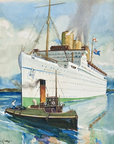 rms empress of britain by terence cuneo