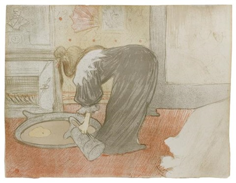 femme au tub from elles series by henri de toulouse lautrec