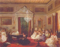 an afternoon in the salon by g. forto