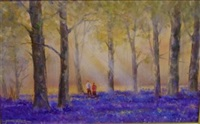 bluebell woods in norfolk by junius james allen