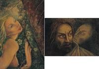 figura femminile (+ figure, smllr; 2 works) by gemma vercelli