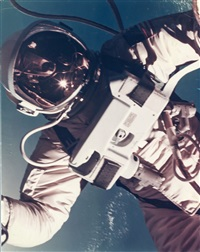 first us spacewalk - ed white's eva over south california, gemini 4, 3 june 1965 by james mcdivitt