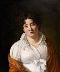 portrait (la baronne d'uchtritz, née de brawn?) by francois henri mulard
