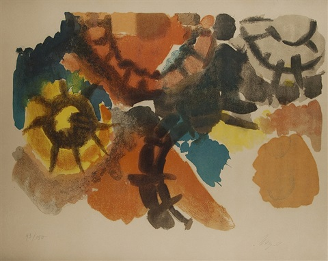farblitho 1958 nor by ernst wilhelm nay