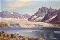 magdalena bay, spitzbergen by georg macco