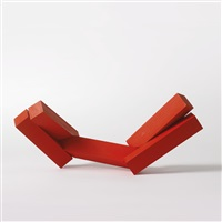 untitled (red reclining figure) by joel shapiro