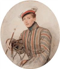portrait of his serene highness prince alexander arkadievich suvorov by alexandr pavlovich bryullov