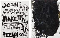 untitled (js06312) (+ untitled (js06305); 2 works) by josh smith