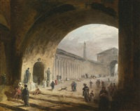 the great archway by hubert robert