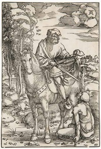 der hl. martin zu pferde. nürnberg by hans baldung grien