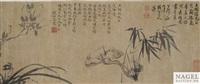 bambus, magnolie und kiefer by ma shouzhen