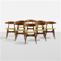 dining chairs model ch33 (set of 8) by hans j. wegner