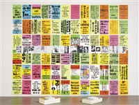 the singing posters, poetry sound collage, sculpture book by allen ruppersberg