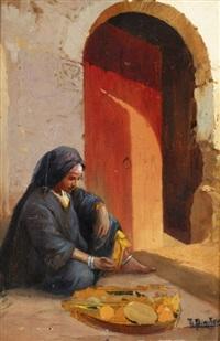 Beduinenlager in der Oase by Tony Binder on artnet