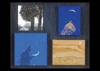 blue night (set of 4) by ikuro yagi