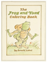 frog and toad coloring book design by arnold lobel