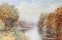 a bend on the river arun by walter stuart lloyd