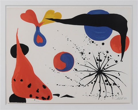 flies in the spider web by alexander calder