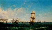 bateaux à l'approche d'alger by barthélemy lauvergne
