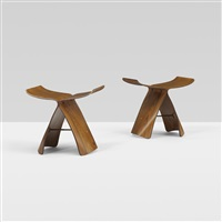 butterfly stools (pair) by sori yanagi