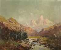 paysage de montagne by emile godchaux