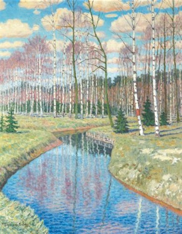 springtime by nikolai petrovich bogdanov belsky