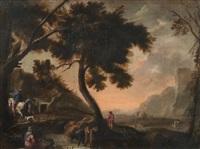 paesaggio con figure by pandolfo reschi